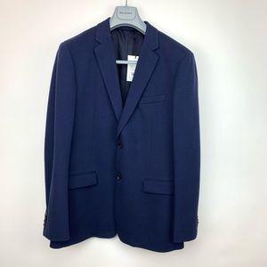 Theory GaunsevoortLuxe Pique Blue 2 Button Blazer